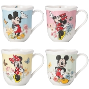 Disney's Mickey & Minnie 4-piece Mug Set