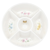 Lenox Butterfly Meadow Melamine 5 Part Divided Server, White