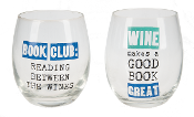 Book Lovers Stemless Wine Glass