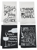 Kitchen Humor Designer Dish Towels, Choice of Four Designs