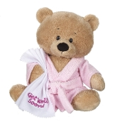 Get Well Teddy with Pink Robe Plush