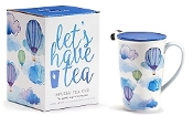 For Tea's Sake Gift Boxed 14.5 oz. Porcelain Infuser Mug