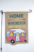 Camper Trailer Garden Flag -Home is Where We Park It