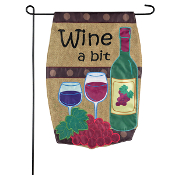 Wine A Bit, Outdoor Garden Flag
