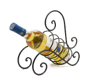 Single Bottle Tabletop Wine Rack