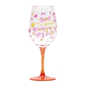 Mommy's Sippy Cup Lolita Ultimate Acrylic Glitter Wine Glass