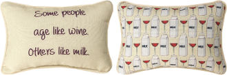 Some People Age Like Wine, Throw Pillow
