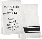 The Secret To Happiness… Kitchen Towel, Set of Two