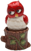 Owl on Tree Stump Salt and Pepper Set
