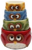 Owl Design Nested Measuring Cup Set