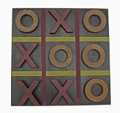 Game Board Tic Tac Toe Primitive Country Rustic Gameboard Black