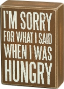 "Box Sign - Im Sorry 5.5"" x 4"""