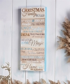 MDF Christmas Family Rules Wall Plaque Decor