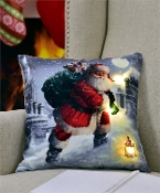 Santa Pillow with LED Lights