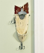 Fishing Lure Wall Mount with Bottle Opener