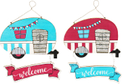 Trailer Welcome Hanging Signs, 2 Designs
