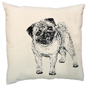 Pug Dog Canvas with Removable Hypo-Allergenic Pillow