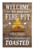 Welcome to Our Fire Pit Plaque