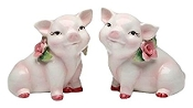 Set of 2 Pink Pig Salt and Pepper Shakers