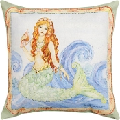 Manual Woodworkers and Weavers Mermaid Throw Pillow