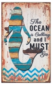 The Ocean is Calling Wooden Wall Sign