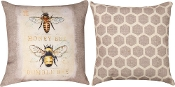 "Natural Life Bee Natural History, 18""x 18"" Indoor/Outdoor Throw"