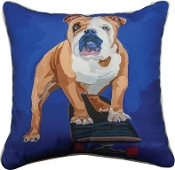 "Bulldog Dog 18"" x 18"" Throw Pillow"
