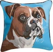"Blue Boxer Pillow 18"" x 18"""