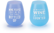 Wine People 13 oz Silicone Wine Glasses (Set of 2)