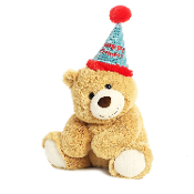 Aurora Happy Birthday Bear Plush