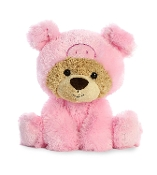 "Aurora 9"" Benny Bear Wanna Be Pig Plush"