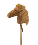 "Aurora Brown Giddy-Up Stick Horse 37"" Plush"