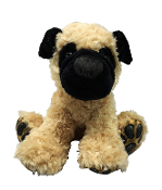"Aurora 13.5"" Big Paw Large Pug Dog"