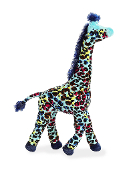 Aurora Safari Collection Multicolor Giraffe Plush