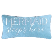 "12"" x 24"" Mermaid Sleeps Here Pillow"