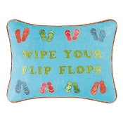 "12"" x 16"" Wipe Your Flip Flops Pillow"