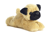 "Aurora 8"" Mini Flopsie Mr. Pugster Plush"