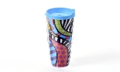 Romero Britto 20 oz. Double-Wall Tumbler (Safari)
