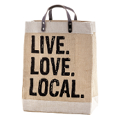 Market Tote - Live, Love, Local