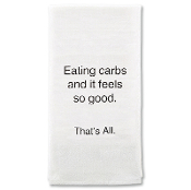 Eating Carbs Tea Towel