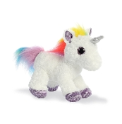 "Aurora 12"" Flopsie Rainbow Unicorn Plush"