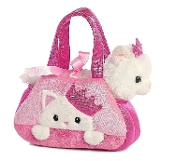"Aurora 7"" Fancy Pals Pet Carrier, Peek-A-Boo Princess Kitty"