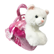 "Aurora 7"" Fancy Pals Cat Ballet Carrier Plush"