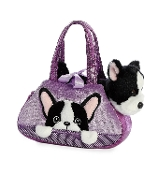 Aurora Fancy Pals Peek-A-Boo French Bulldog Plush