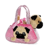Aurora Fancy Pals Peek-A-Boo Pug Plush