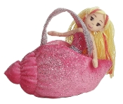 Aurora Fancy Pals Sea Sparkle Pink Shell Carrier Plush