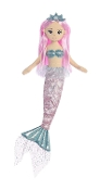 "Aurora 18"" Blue Sea Shelly Mermaid Plush"