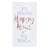 Happy Hour at the Beach Kitchen Towel
