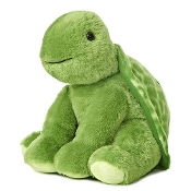 "Aurora 11"" GreenTurtle Plush Animal"