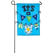 Evergreen It's A Boy Double-Sided Applique Garden Flag